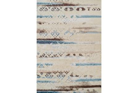 98X120 Rug-Joshua Faded Overlay Ivory/Blue