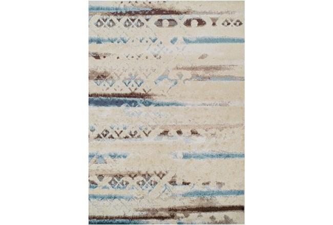 98X120 Rug-Joshua Faded Overlay Ivory/Blue - 360