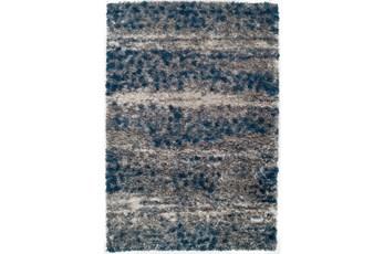 63X91 Rug-Speckeled Shag Cobalt/Grey
