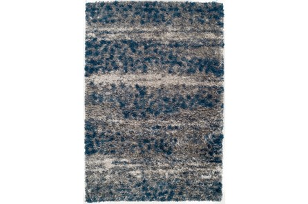 63X91 Rug-Speckeled Shag Cobalt/Grey - Main