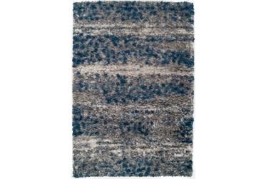 "7'8""x10'6"" Rug-Speckeled Shag Cobalt/Grey"