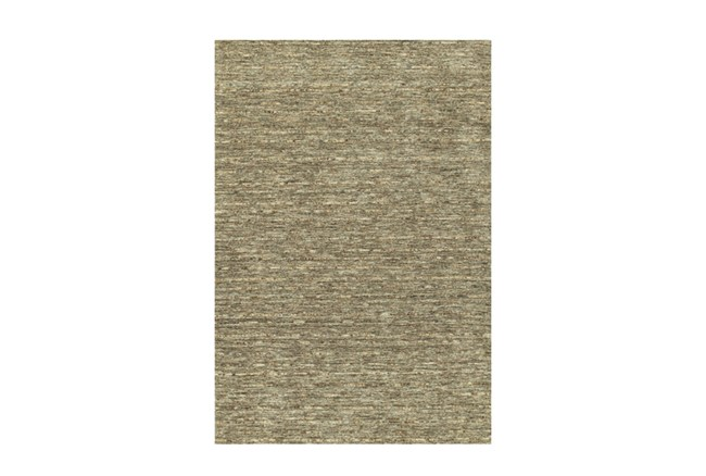 42X66 Rug-Wool Striations Fudge - 360