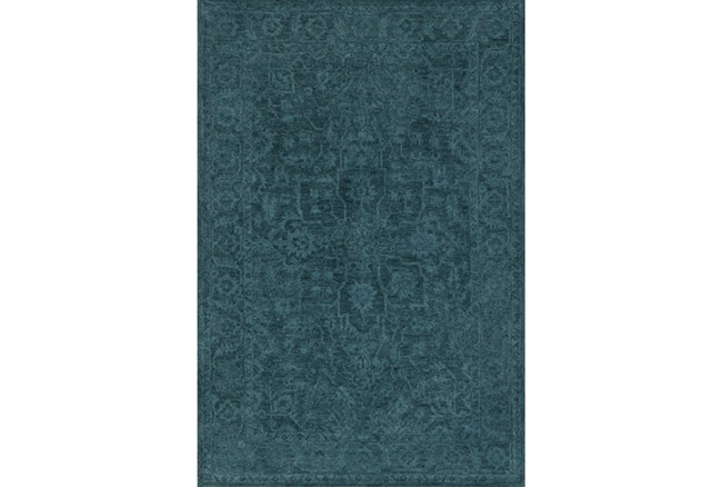 108X156 Rug-Caroline Tonal Pattern Navy - 360