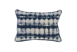 Accent Pillow-Indigo Batik Stripes 14X26