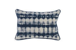 Accent Pillow-Indigo Batik Stripes 14X26