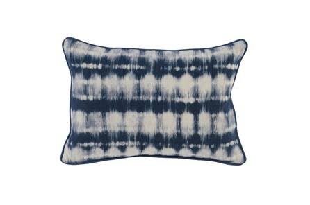 Accent Pillow-Indigo Batik Stripes 14X26 - Main
