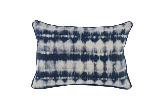 Accent Pillow-Indigo Batik Stripes 14X26 - 360