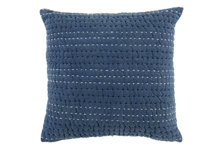 Accent Pillow-Chambray Blue Striations 22X22