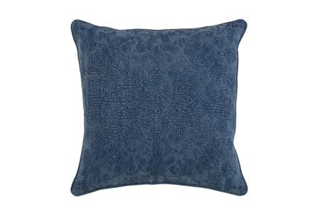 Accent Pillow-Indigo Stonewashed Damask 20X20