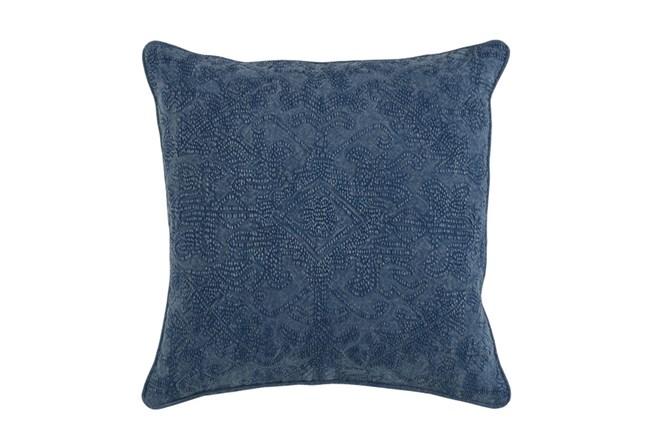 Accent Pillow-Indigo Stonewashed Damask 20X20 - 360