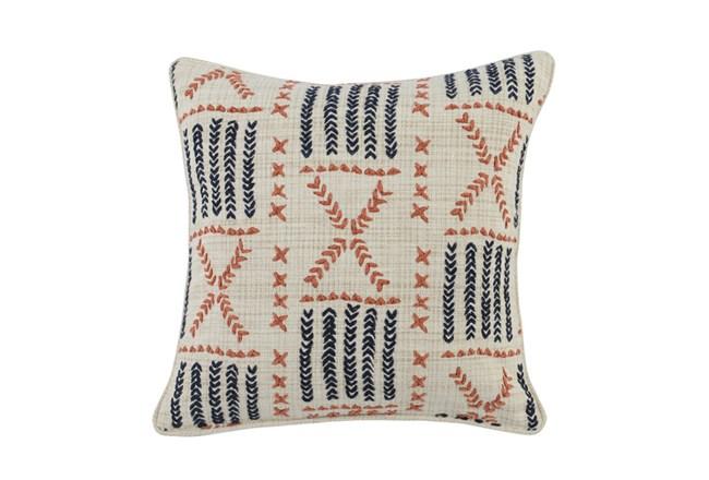 Accent Pillow-Terracotta & Indigo Mudcloth 22X22 - 360
