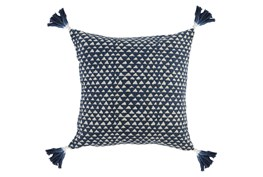 Accent Pillow-Indigo Corner Tassels 20X20