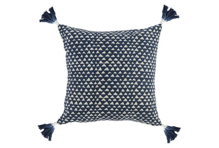 Accent Pillow-Indigo Corner Tassels 20X20 - Main