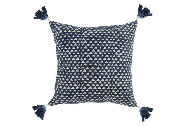 Accent Pillow-Indigo Corner Tassels 20X20 - 360