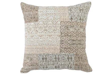 Accent Pillow-Antique Patchwork Natural   22X22
