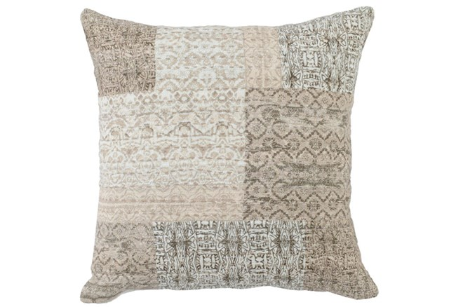 Accent Pillow-Antique Patchwork Natural   22X22 - 360