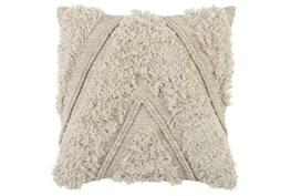 Accent Pillow-Ivory Brush Fringe Chevron 22X22