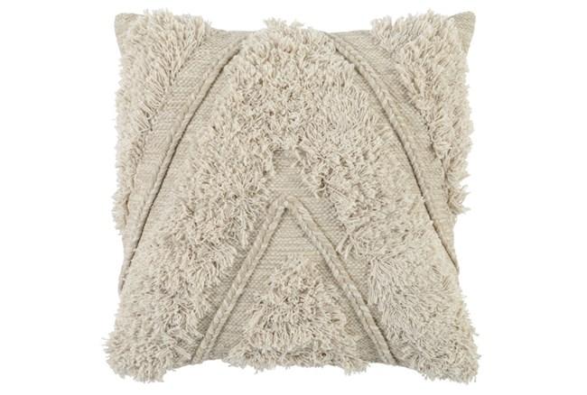 Accent Pillow-Ivory Brush Fringe Chevron 22X22 - 360