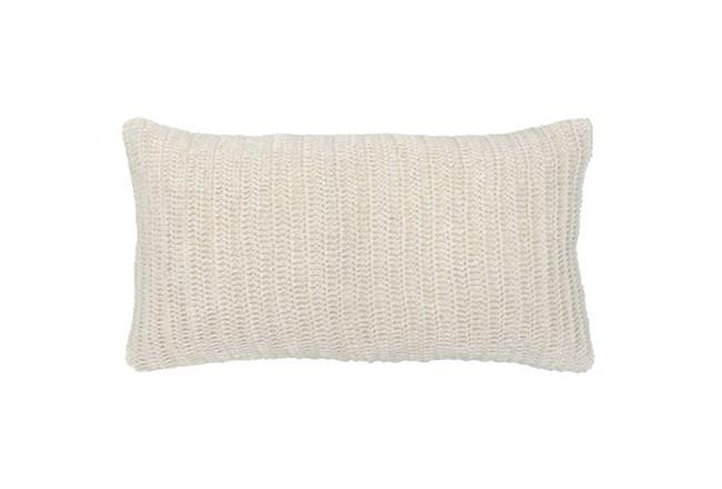 Accent Pillow-Ivory Knit Linen 14X26 - 360