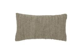 Accent Pillow-Natural Knit Linen  14X26