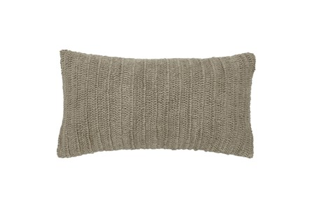 Accent Pillow-Natural Knit Linen  14X26 - Main
