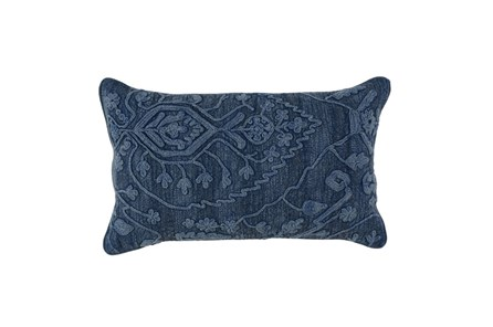Accent Pillow-Indigo Stonewashed Native Pattern 14X26 - Main