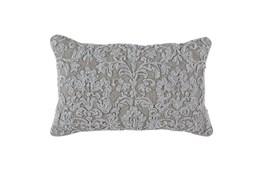 Accent Pillow-Natural Linen Damask 14X26