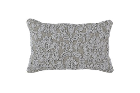 Accent Pillow-Natural Belgian Linen Damask 14X26 - Main