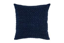 Accent Pillow-Indigo Hexagon Belgian Linen 22X22