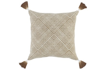 Accent Pillow-Toffee Dip Dyed Tassels 20X20 - Main