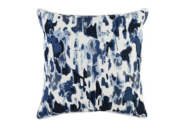 Accent Pillow-Watercolor Raindrops Navy 22X22