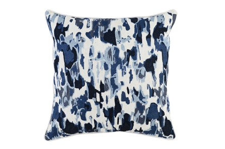 Accent Pillow-Watercolor Raindrops Navy 22X22 - Main