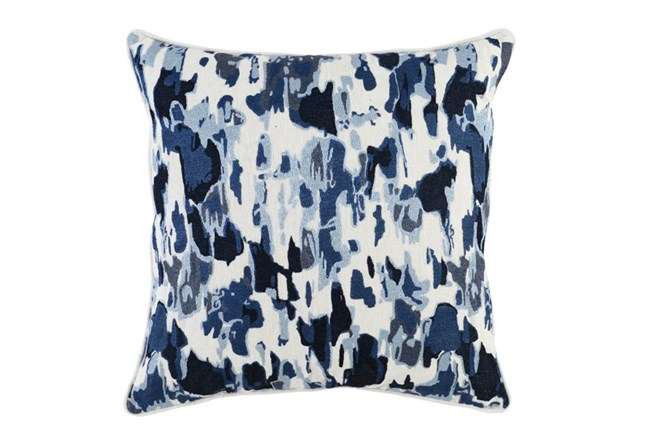 Accent Pillow-Watercolor Raindrops Navy 22X22 - 360