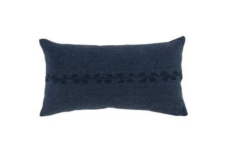 Accent Pillow-Indigo Lumbar 14X26
