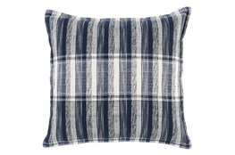Accent Pillow-Indigo Square Block Print Details 22X22