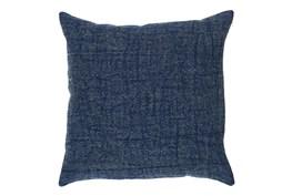 Accent Pillow-Indigo Stonewashed Textural Linen 22X22