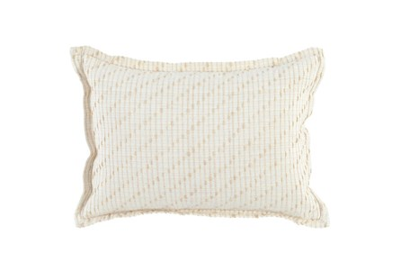 Accent Pillow-Ivory/Natural Cotton Jute Stitching 14X26