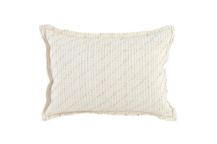 Accent Pillow-Ivory/Natural Cotton Jute Stitching 14X26 - Main