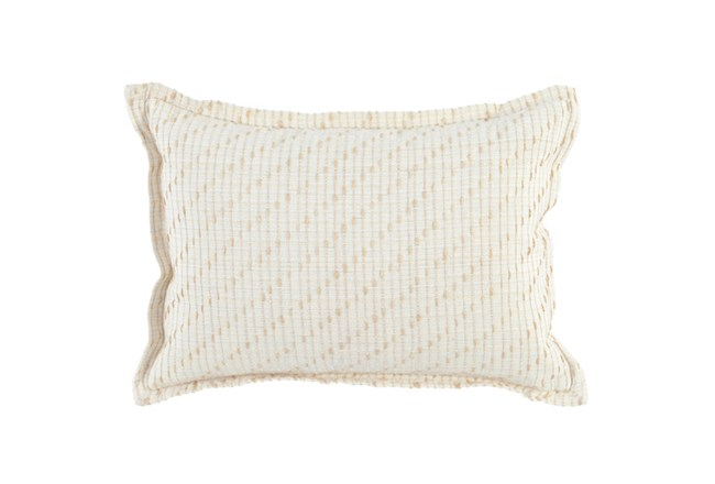 Accent Pillow-Ivory/Natural Cotton Jute Stitching 14X26 - 360