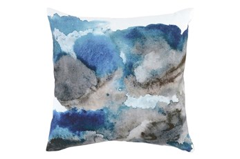 Accent Pillow-Watercolor Flowers Lake 20X20