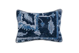 Accent Pillow-Indigo Blue Multi 14X26