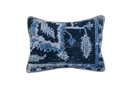 Accent Pillow-Indigo Blue Multi 14X26