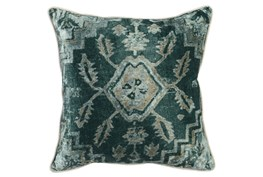 Accent Pillow-Emerald Antique Print 18X18
