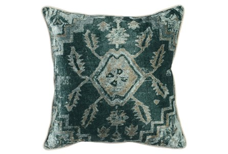 Accent Pillow-Emerald Antique Print 18X18