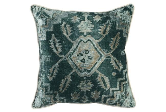 Accent Pillow-Emerald Antique Print 18X18 - 360