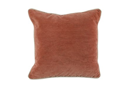 Accent Pillow-Terracotta Washed Velvet 18X18 - Main