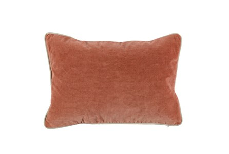 Accent Pillow-Terracotta Washed Velvet 14X26