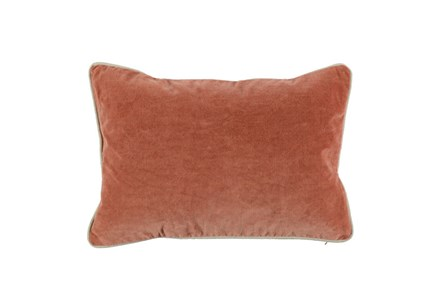 Accent Pillow-Terracotta Washed Velvet 14X26