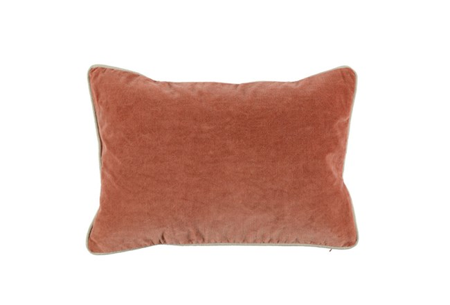 Accent Pillow-Terracotta Washed Velvet 14X26 - 360
