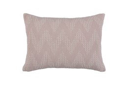 Accent Pillow-Blush Pink Basic Chevron 14X26